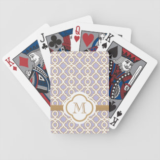 Lavender and Gold Bicycle Poker Cards