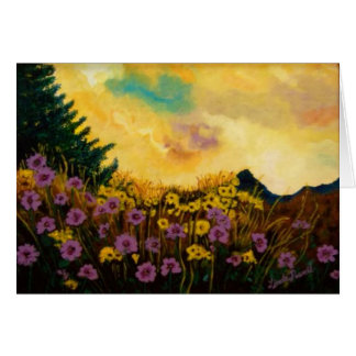 """Lavender and Gold"" by Linda Powell~Original Card"