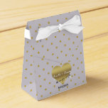 Lavender And Gold Heart Polka Dot Favor Boxes