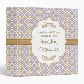 Lavender and Gold Moroccan Wedding Planner Binder