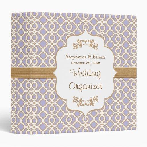Lavender and Gold Moroccan Wedding Planner Vinyl Binder