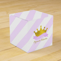 Lavender and Gold Princess Birthday Party Favor Box