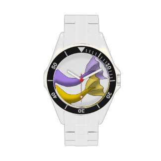 Lavender and Golden Yellow Mermaid Tails Watches