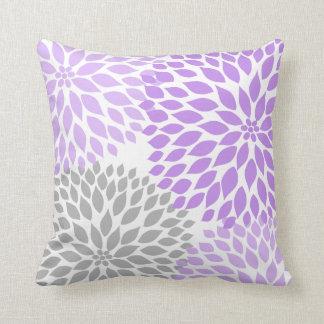 Lavender And Gray Throw Pillows : Lavender Gray Pillows - Decorative & Throw Pillows Zazzle
