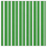 [ Thumbnail: Lavender and Green Colored Lined/Striped Pattern Fabric ]