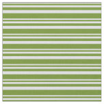 [ Thumbnail: Lavender and Green Colored Lines/Stripes Pattern Fabric ]