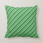 [ Thumbnail: Lavender and Green Colored Lines Throw Pillow ]
