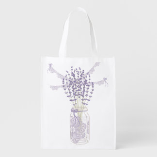 Lavender and Lace Grocery Bags