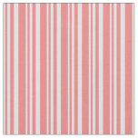[ Thumbnail: Lavender and Light Coral Pattern of Stripes Fabric ]
