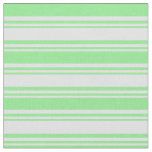 [ Thumbnail: Lavender and Light Green Lines Fabric ]