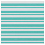 [ Thumbnail: Lavender and Light Sea Green Colored Stripes Fabric ]