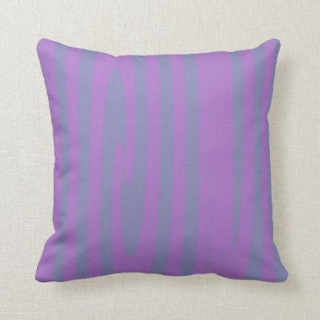 Lavender and Lilac Striped Throw Pillow