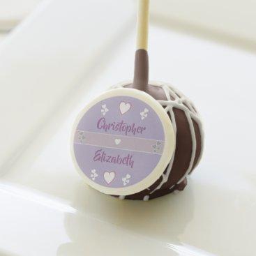 Bride Themed Lavender and Lilac Wedding Favor Cake Pops