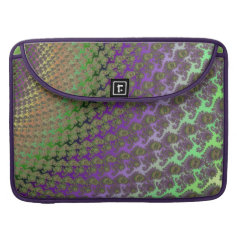 Lavender and Lime Abstract Fractal Skins Sleeves For MacBook Pro