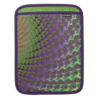 Lavender and Lime Abstract Fractal Sleeve Sleeve For iPads