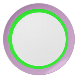 Lavender and Lime Personalized Image Plate