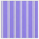 [ Thumbnail: Lavender and Medium Slate Blue Colored Stripes Fabric ]