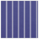 [ Thumbnail: Lavender and Midnight Blue Colored Lined Pattern Fabric ]