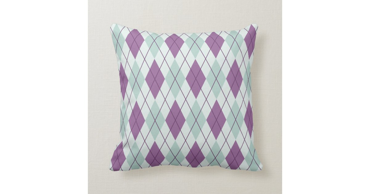 lavender and mint green argyle accent cushions zazzle. Black Bedroom Furniture Sets. Home Design Ideas