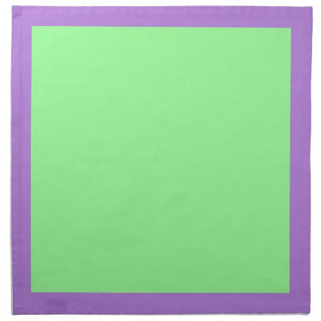 Lavender and Mint Green Napkins
