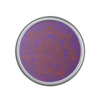 Lavender and Orange Mandala Speaker