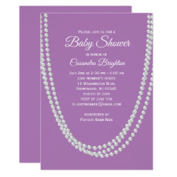 Lavender and Pearls Baby Shower Invitation