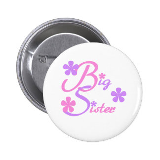 Lavender and Pink Big Sister Button