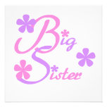 Lavender and Pink Big Sister Gifts Personalized Announcement