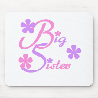 Lavender and Pink Big Sister Mouse Pad