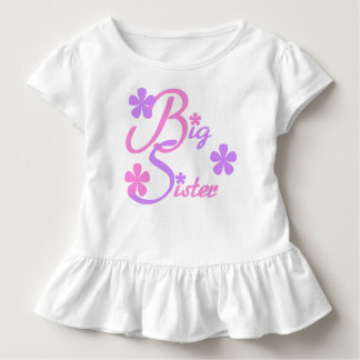 Lavender and Pink Big Sister Toddler T-shirt