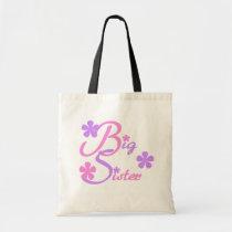 Lavender and Pink Big Sister Tshirts and Gifts Tote Bag