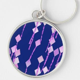 lavender and pink kites against dark blue keychain