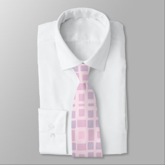 Lavender and Pink Mosaic Pattern Neck Tie
