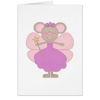 Lavender and Pink Mouse Fairy Card