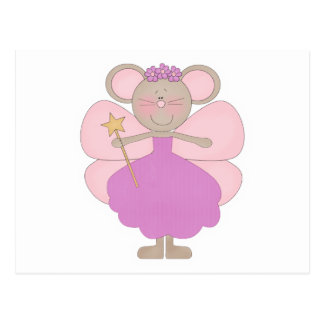 Lavender and Pink Mouse Fairy Postcard