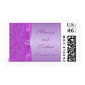 Lavender and Purple Jewelled Postage stamp