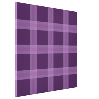 Lavender And Purple Plaid Pattern Canvas Wall Art