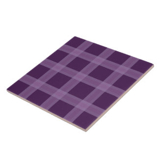 Lavender And Purple Plaid Pattern Ceramic Tile