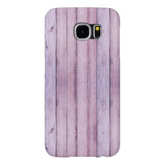 Lavender and Purple Wood Boards Planks Samsung Galaxy S6 Cases