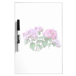 Lavender and Rose Hydrangeas Dry-Erase Board