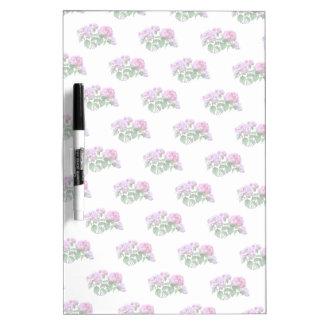 Lavender and Rose Hydrangeas Dry Erase Board