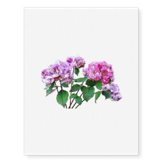 Lavender and Rose Hydrangeas Temporary Tattoos