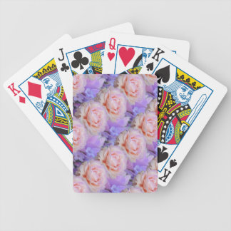Lavender and Roses Bicycle Playing Cards