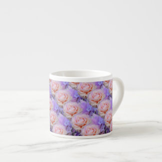 Lavender and Roses Espresso Cup