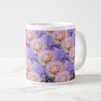 Lavender and Roses Giant Coffee Mug