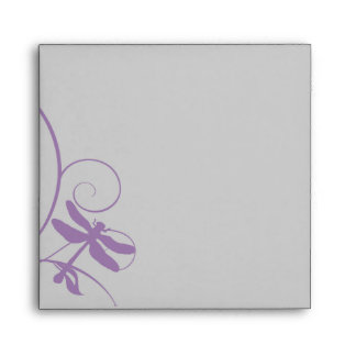 Lavender and Silver Dragonflies Envelope