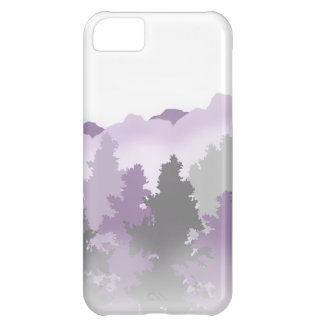 Lavender and Silver Forest iPhone 5C Cases