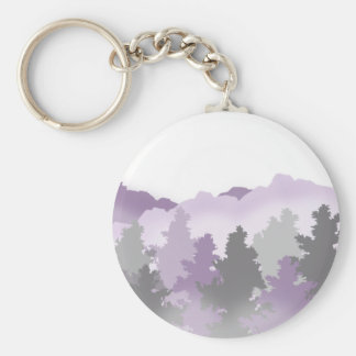 Lavender and Silver Forest Keychain