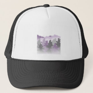 Lavender and Silver Forest Trucker Hat