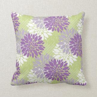 Lavender and Spring Green Home Decor Pillows